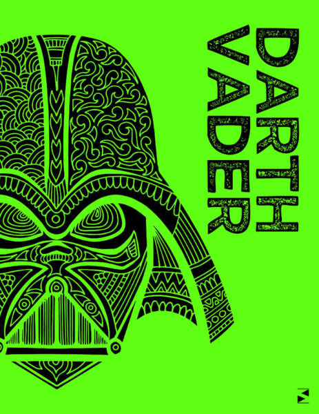 Darth Vader Mixed Media - Darth Vader - Star Wars Art - Green by Studio Grafiikka