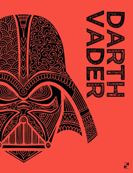 Darth Vader Mixed Media - Darth Vader - Star Wars Art - Red by Studio Grafiikka
