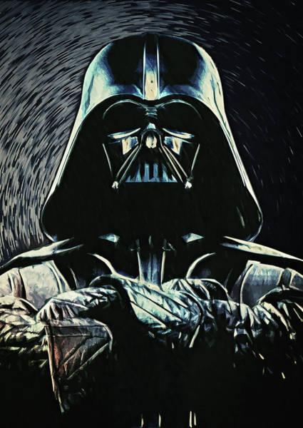 Star Wars Wall Art - Digital Art - Darth Vader by Zapista Zapista
