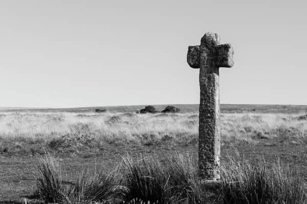 Photograph - Dartmoor Cross by Helen Northcott