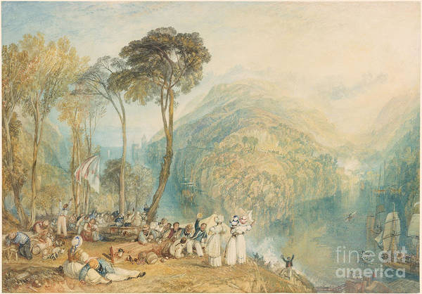 J. M. W. Turner Painting - Dartmouth Cove by MotionAge Designs