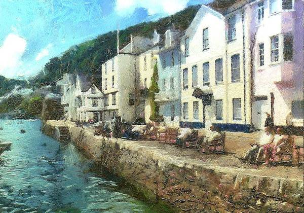 Bayards Cove Dartmouth Devon  Art Print