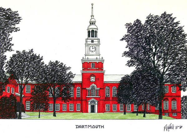 Wall Art - Drawing - Dartmouth by Frederic Kohli