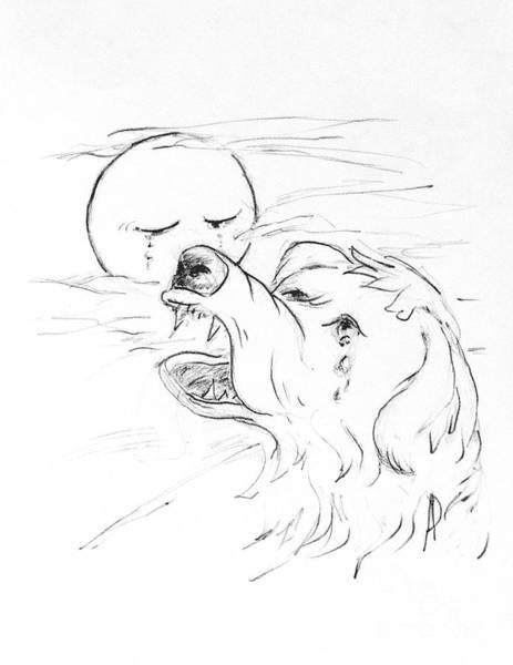 Hund Drawing - Dash Is Sad by Anthony Vandyk