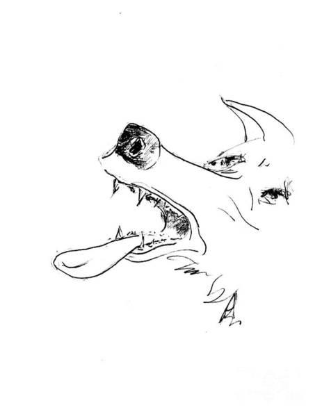 Hund Drawing - Dash Tired by Anthony Vandyk