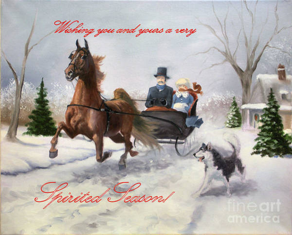 Sleigh Wall Art - Painting - Dashing II by Jeanne Newton Schoborg