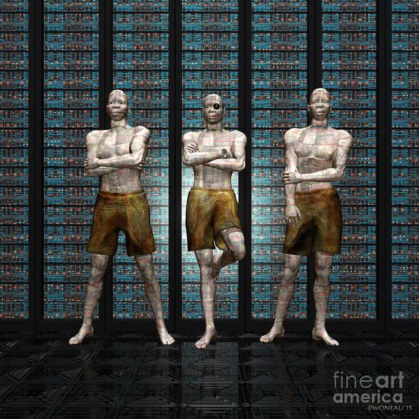 Digital Art - Data Acolytes by Walter Neal