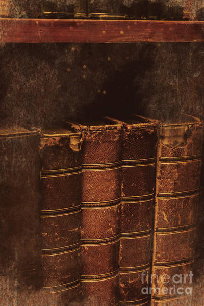 Shelves Photograph - Dated Textbooks by Jorgo Photography - Wall Art Gallery