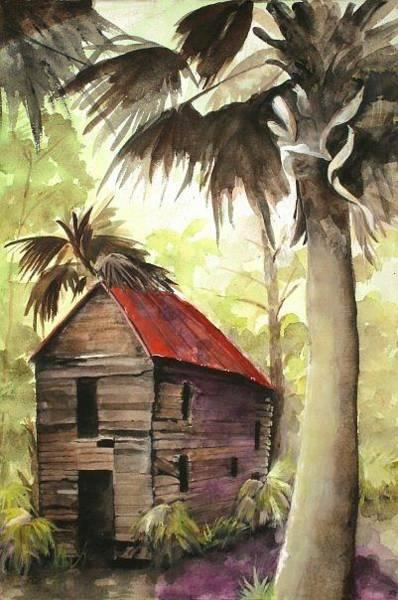 Daufuskie Island Wall Art - Painting - Daufuskie Mist by Trina Brooks
