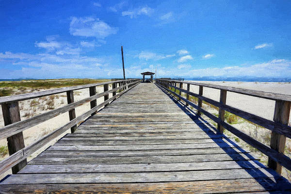 Wall Art - Photograph - Dauphin Island Pier Alabama by JC Findley