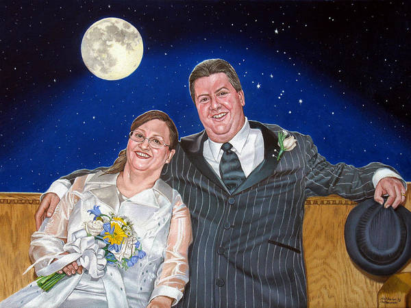 Painting - Dave And Sue In Oil Painting by Christopher Shellhammer