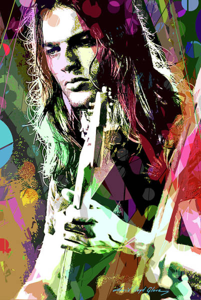 Pink Floyd Painting - Dave Gilmour Dark Side by David Lloyd Glover