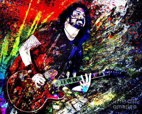 Foo Fighters Wall Art - Mixed Media - Dave Grohl Art  by Ryan Rock Artist