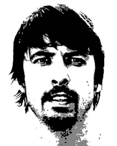 Dave Grohl Painting - Dave Grohl by Dan Carman