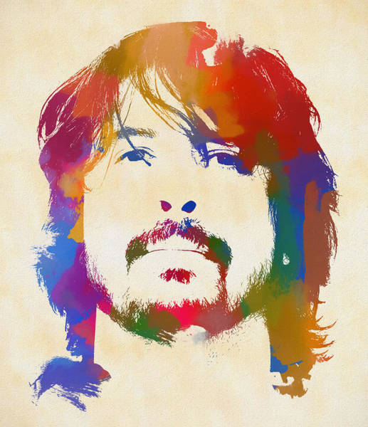 Foo Fighters Wall Art - Painting - Dave Grohl by Dan Sproul