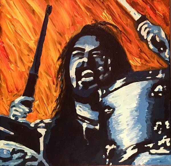 Dave Grohl Painting - Dave Grohl Drummer Energy by Kimberly A P