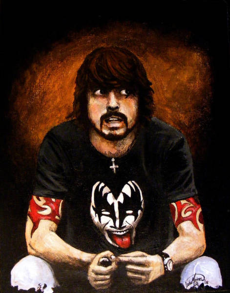 Rockstar Painting - Dave Grohl by Luke Morrison