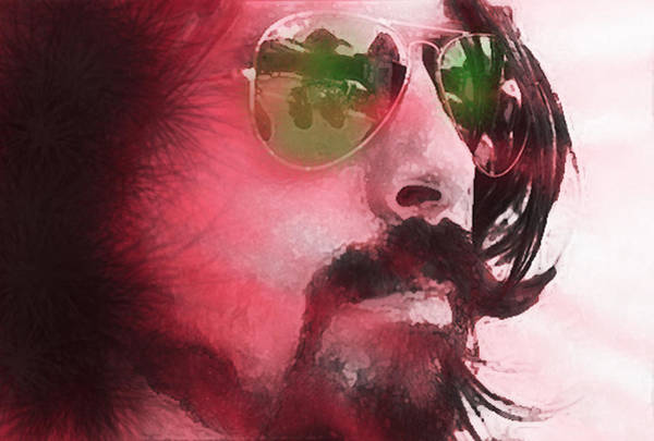 Dave Grohl Painting - Dave Grohl Portrait  by Enki Art