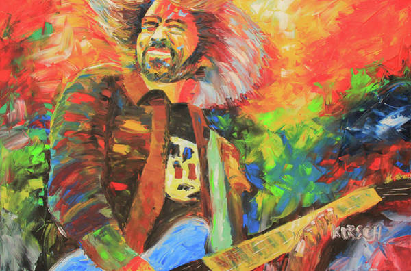 Rockstar Painting - Dave Grohl by Robert Kirsch