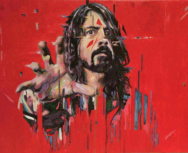 Dave Grohl Painting - Dave Grohl by Zina Art