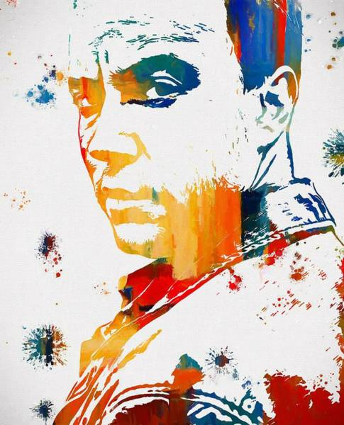 Marching Band Painting - Dave Matthews Paint Splatter by Dan Sproul