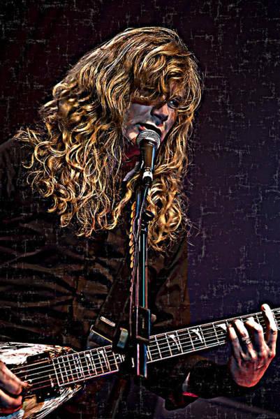 Megadeth Wall Art - Digital Art - Dave Mustaine 1 by Joy McKenzie