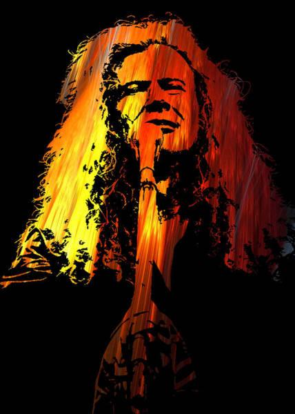 Megadeth Wall Art - Digital Art - Dave Mustaine by Michael Bergman