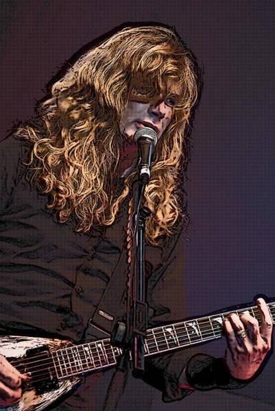 Megadeth Wall Art - Digital Art - Dave Mustaine Pop Art by Joy McKenzie