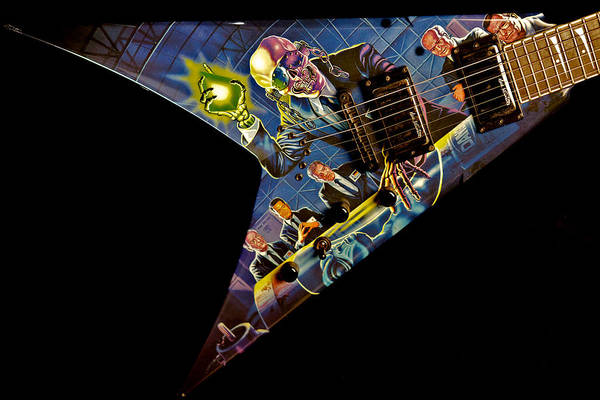 Megadeth Wall Art - Photograph - Dave Mustaine - Signature Dean Vmnt  by Lisa Johnson