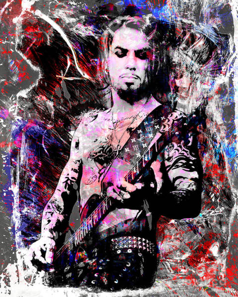 Hard Rock Mixed Media - Dave Navarro Art  by Ryan Rock Artist