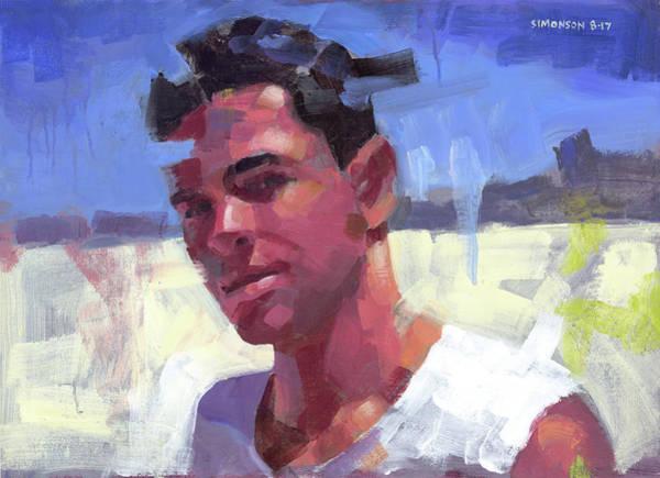 Brazil Painting - Davi At The Beach by Douglas Simonson