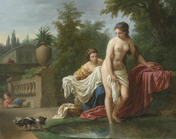 Painting - David And Bathsheba by Louis-Jean-Francois Lagrenee