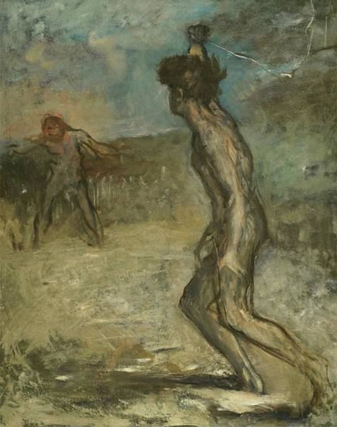 Painting - David And Goliath by Edgar Degas