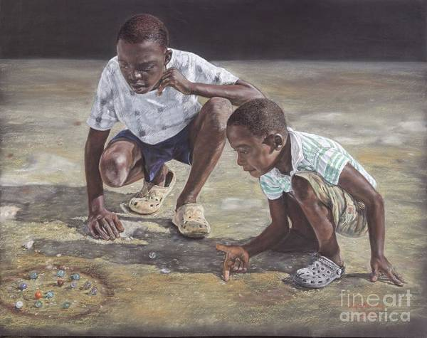 Pastel - David And Goliath by Roshanne Minnis-Eyma