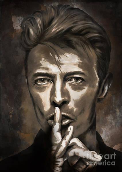 David Bowie Painting - David by Andrzej Szczerski