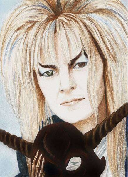 Amber Drawing - David Bowie As Jareth by Amber Stanford