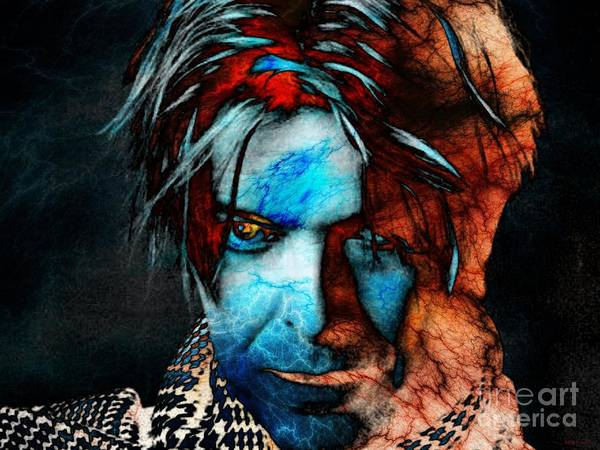 Glam Rock Digital Art - David Bowie / Keep Your 'lectric Eye On Me, Babe by Elizabeth McTaggart