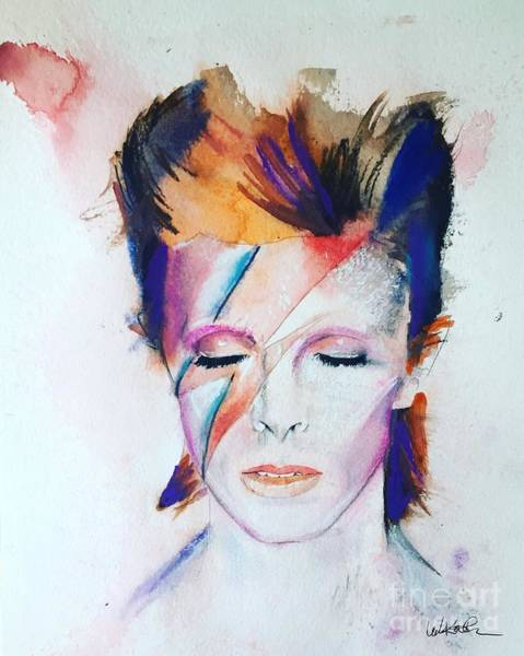 Bowie Painting - David Bowie by Leah Katherine