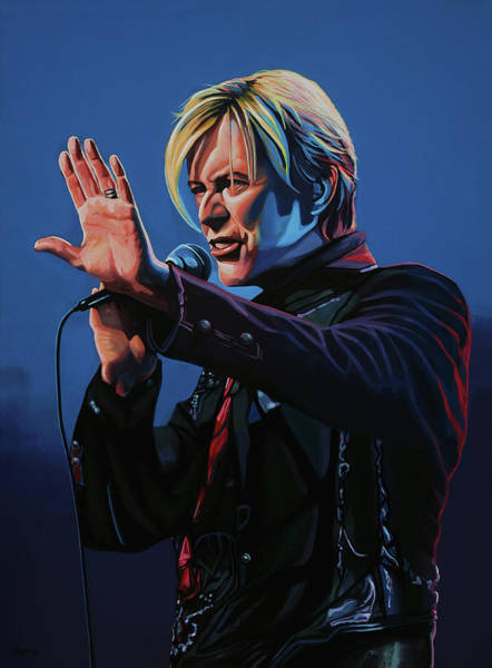 Wall Art - Painting - David Bowie Live Painting by Paul Meijering