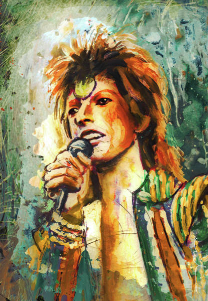 Painting - David Bowie Madness 02 by Miki De Goodaboom