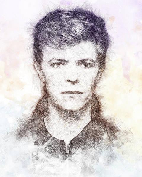 David Bowie Painting - David Bowie Portrait 01 by Pablo Romero