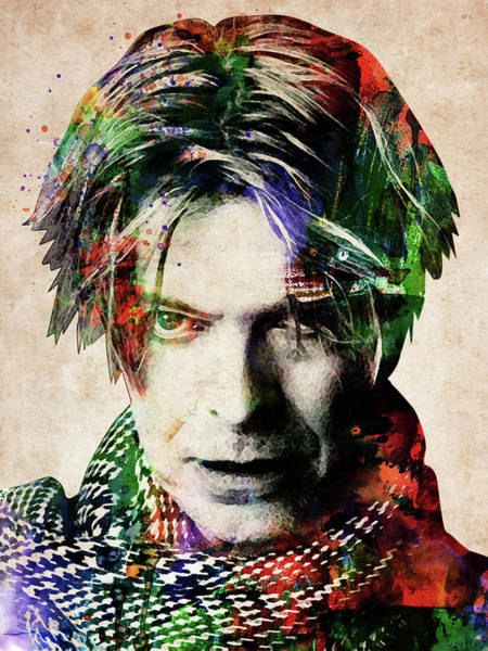 Front Digital Art - David Bowie Portrait by Mihaela Pater