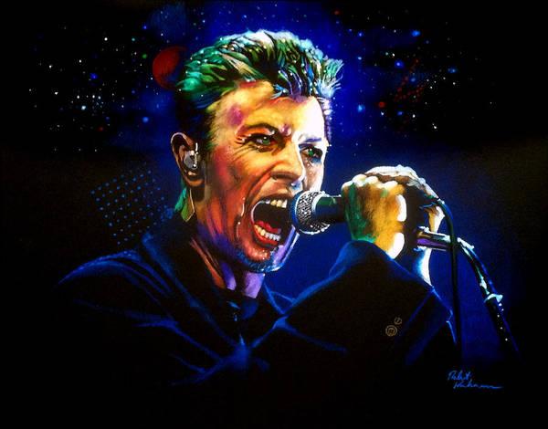 Wall Art - Drawing - David Bowie by Robert Korhonen