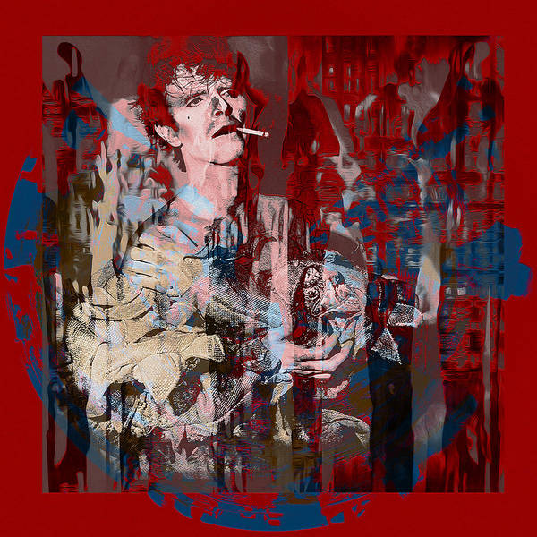 Glam Rock Digital Art - David Bowie    Scary Monsters by Graceindirain Imagery