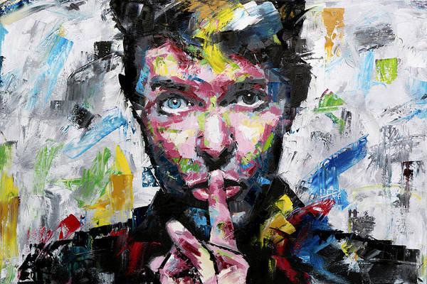 Bowie Painting - David Bowie Shh by Richard Day