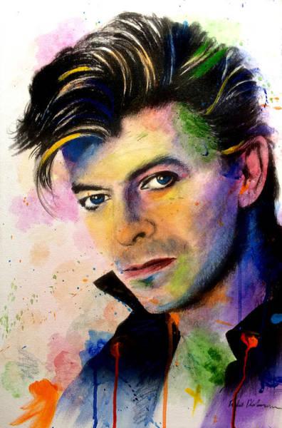 Wall Art - Painting - David Bowie Splashes by Robert Korhonen