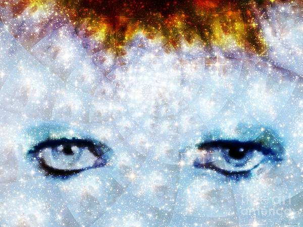 Glam Rock Digital Art - David Bowie / Stardust by Elizabeth McTaggart