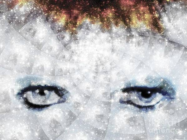 Glam Rock Digital Art - David Bowie / Stardust / Muted Colors  by Elizabeth McTaggart