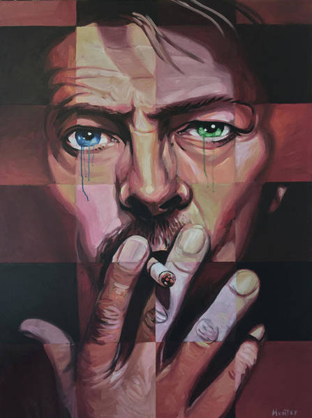 David Bowie Painting - David Bowie by Steve Hunter
