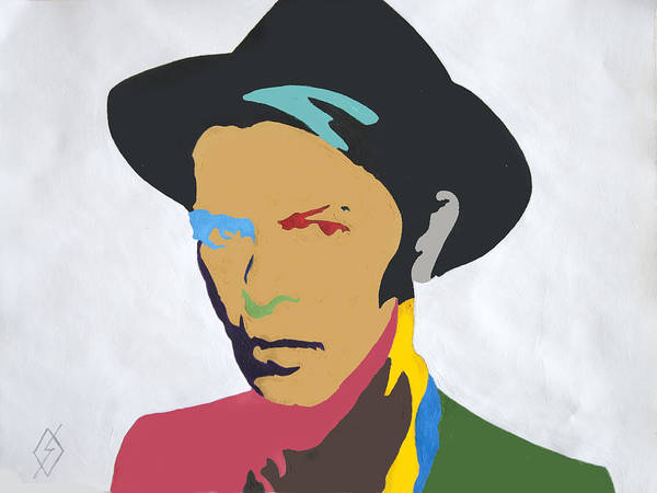 Wall Art - Painting - David Bowie by Stormm Bradshaw